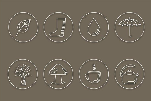 Free Download Autumn Vector Line Icons