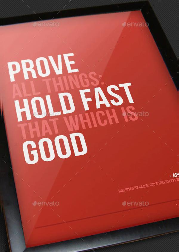 Church Quote Poster Design