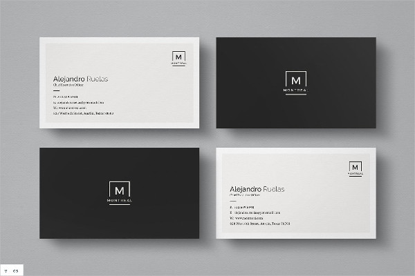 Clean Business Card Ideal for Personal Identity