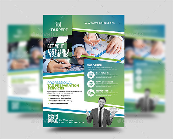 Professional Tax Preparation Services Flyer Template