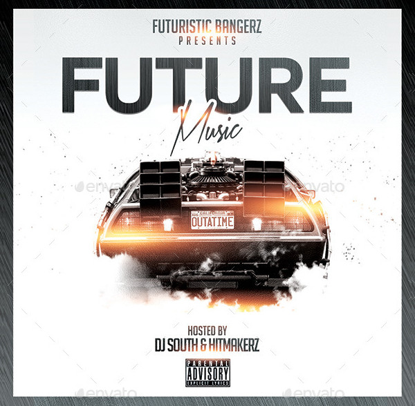 Future Music CD Design PSD