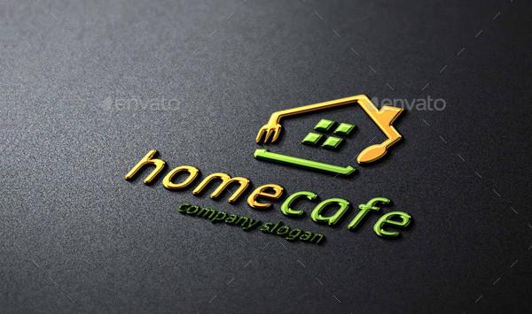 Home Cafe Design Logo