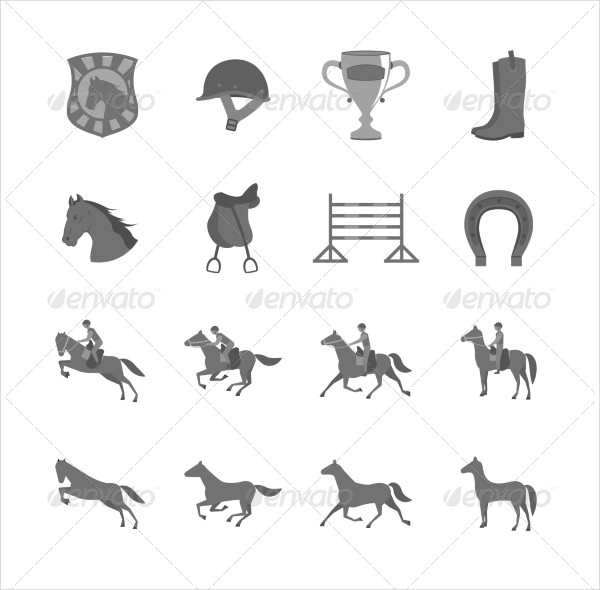Horse Riding Icons