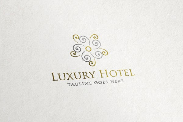 Luxury Hotel - Flower Abstract Logo