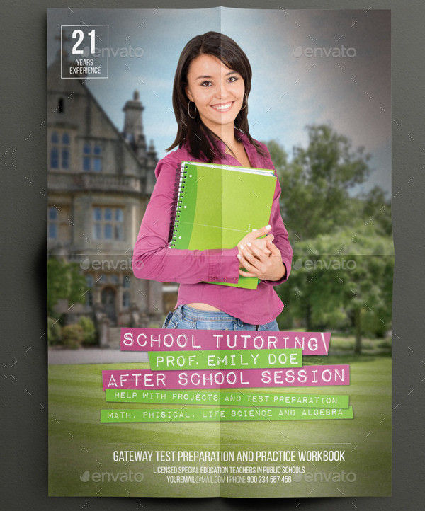 School Tutor Flyer Template