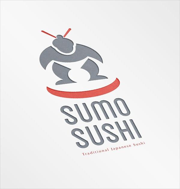 Sumo Sushi Traditional Japanese Logo