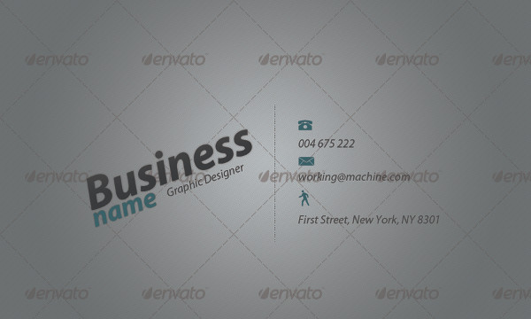 Typography Designer Business Card Template