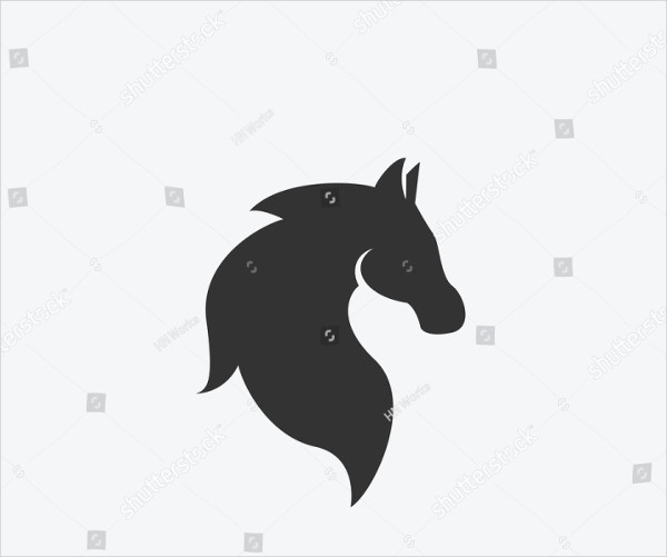 Horse Icon Illustration Isolated Vector