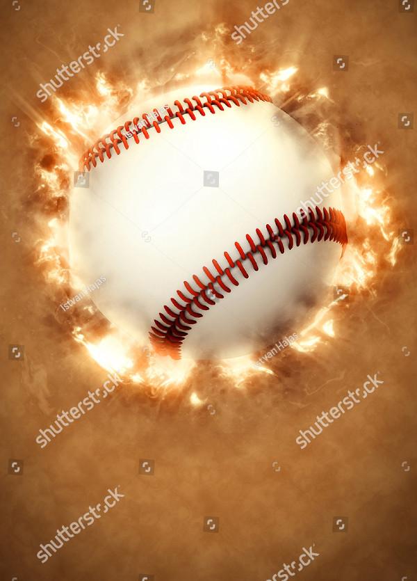Abstract Baseball Sport Invitation Flyer
