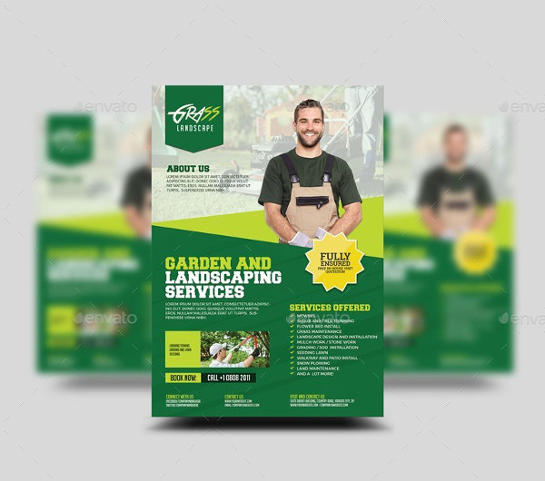 Cool Landscaping Business Flyer Template