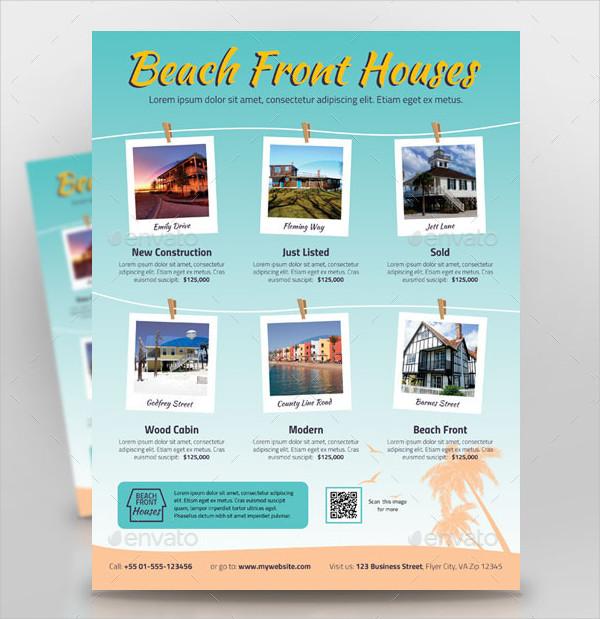 Beach Houses For Sale Flyer