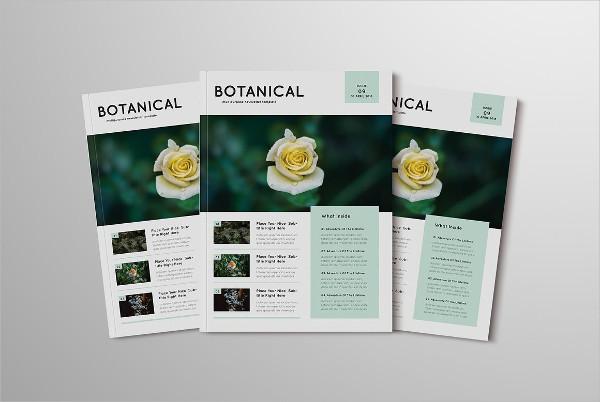 Botanical Newsletter Template PSD