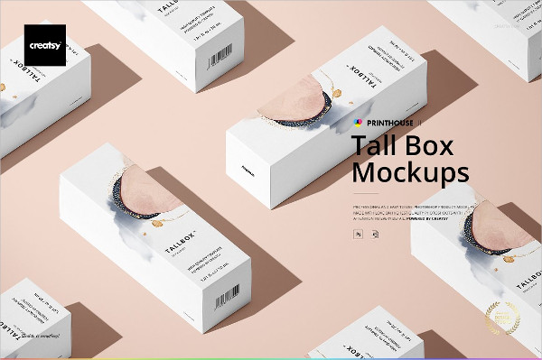 Custom Tall Box Mockups Set