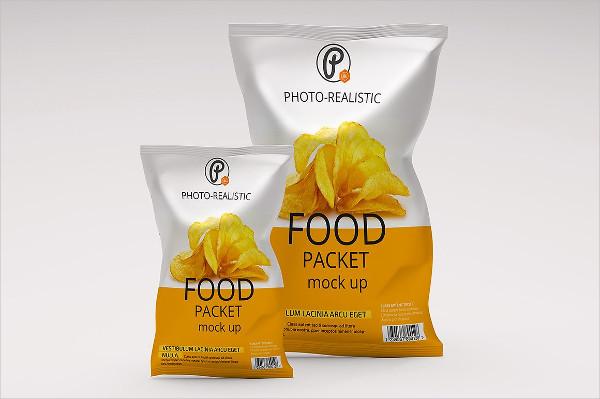 Editable Food Packaging Mockup PSD Template