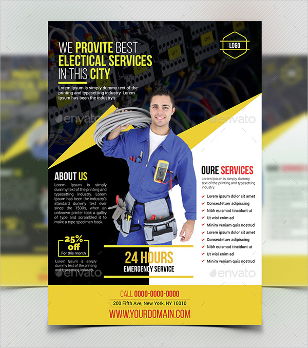 Electrician Service Flyer Template