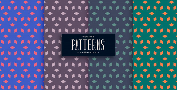 Geometric Pattern Design Set Free Download