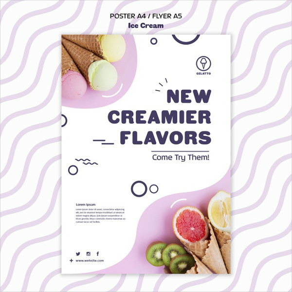 Ice Cream Advertising Flyer Free Download