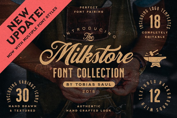 Milk Store Font Collection