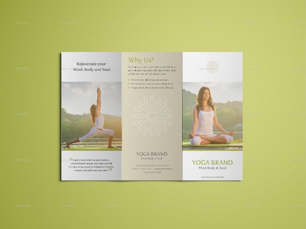 Modern Yoga Fitness Trifold Brochure
