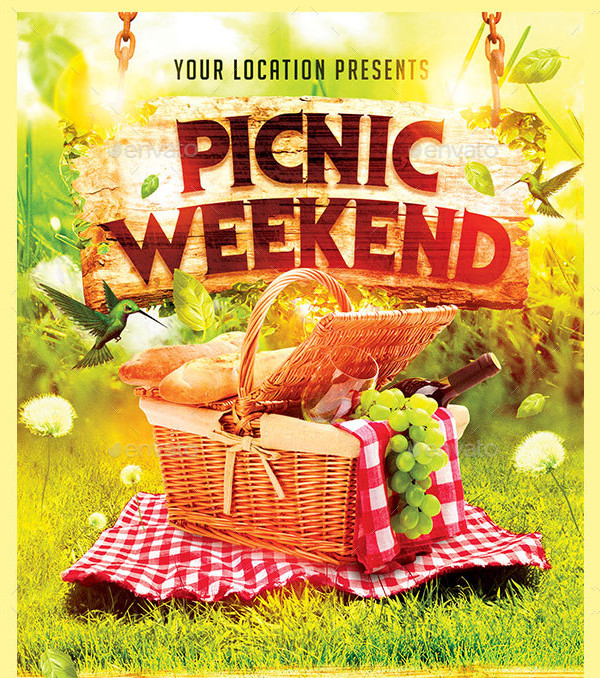 Custom Picnic Weekend Flyer Design