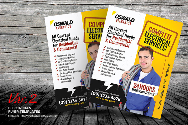 Electrician Flyer Templates 19 Free Premium Download