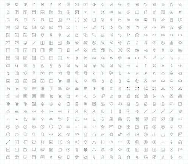 Set of Computer Icon Vectors Free