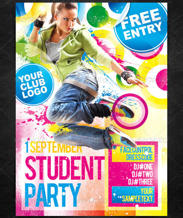 Student Party Poster