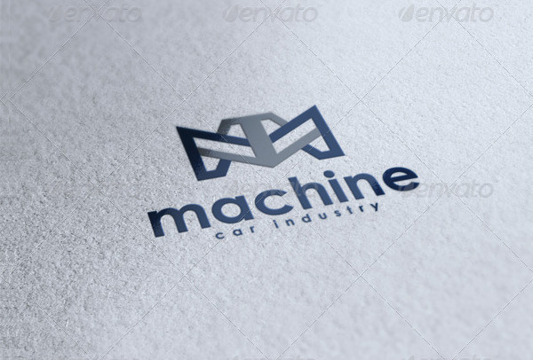 Machine Car Industry Logo Template