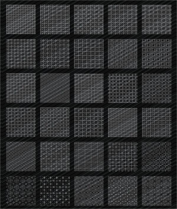 33 Unique Pixel Patterns Set