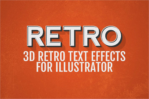 3D Retro Text Effects for Illustrator