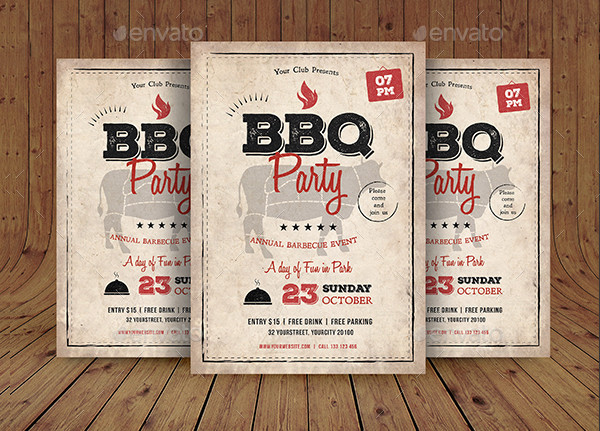 Autumn BBQ Flyer Templates