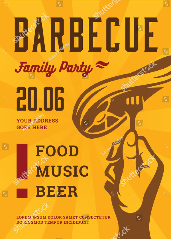 Barbecue Party Vector Flyer Design
