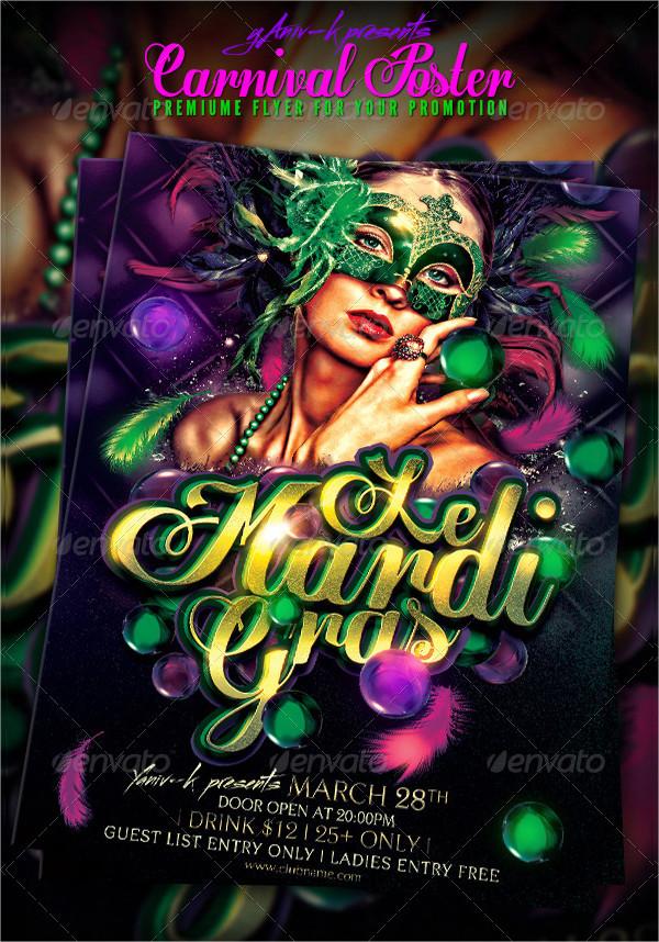 Carnival Celebration Poster PSD