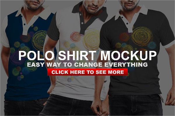 Casual Polo Tshirt Mock-up Template