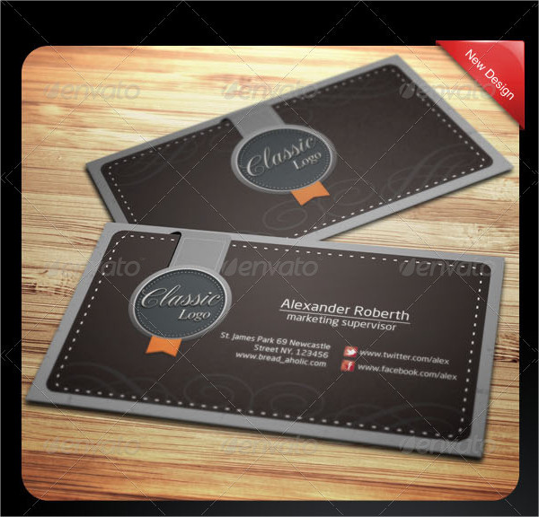 Classic Name Cards Template