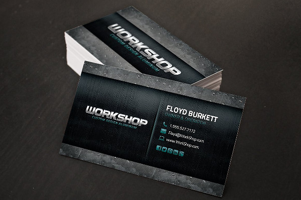 Double Sided Metal Business Card Template