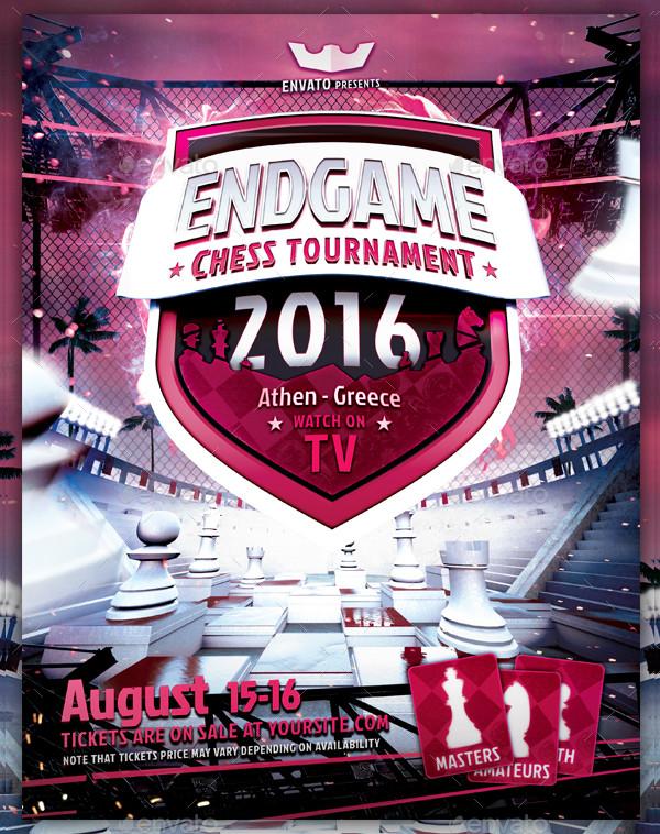 Endgame Chess Tournament Flyer