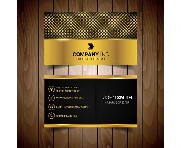 Golden Business Card Free Download