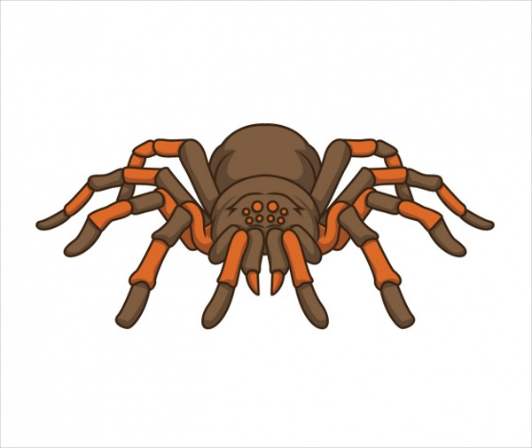 Hand Painted Spider Design Logo Free Vector