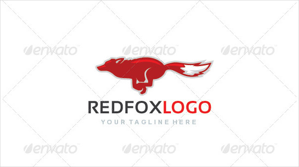 Red Fox Animal Logo Template
