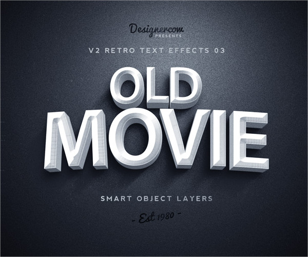 Old Retro Text Effect