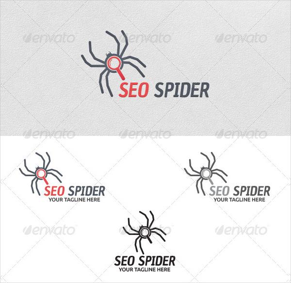 SEO Spider Vector Logo Template
