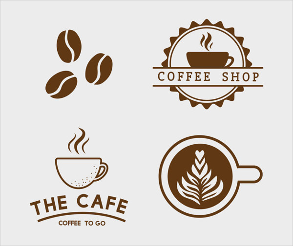 Set of Coffee Elements and Coffee Accessories Vector Free