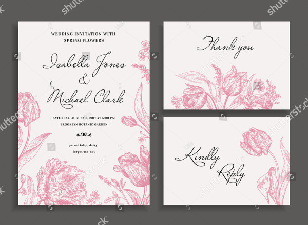 Vintage Wedding Invitation in a Rustic Style