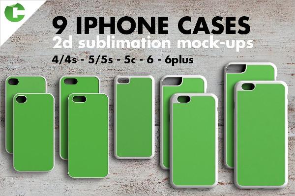 iPhone Case Mockup 2D Print