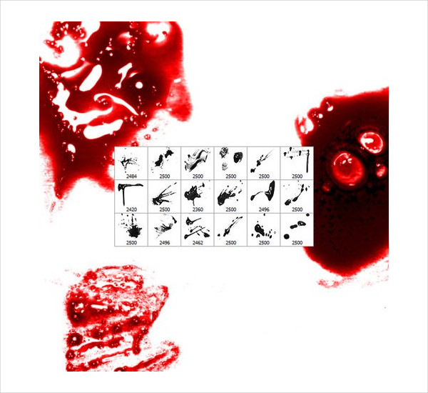 20 Free Bloody Smears And Drops Brushes