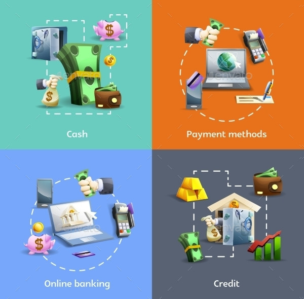 Banking And Payment Icon Set