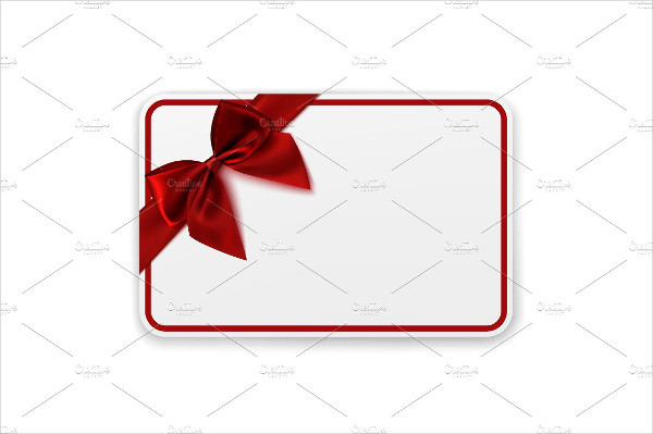 Blank Holiday Gift Card Template
