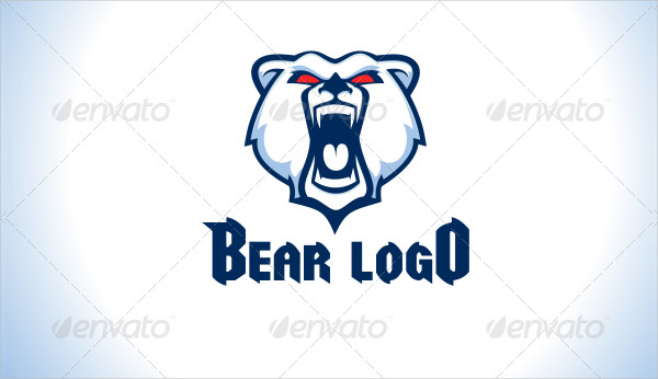 Cartoon Bear Logo Template
