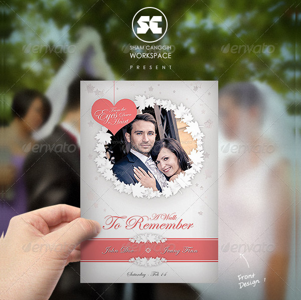 Clean Marriage Invitation Card Template
